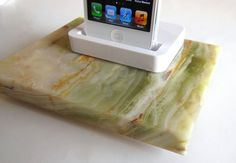 Cream/Green Onyx with white iPhone 5 dock