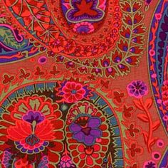 Kaffe Fassett Paisley Jungle Rust