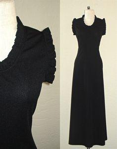 80s Black & Gold Velvet Mini Dress | Dresses | Rokit Vintage ...