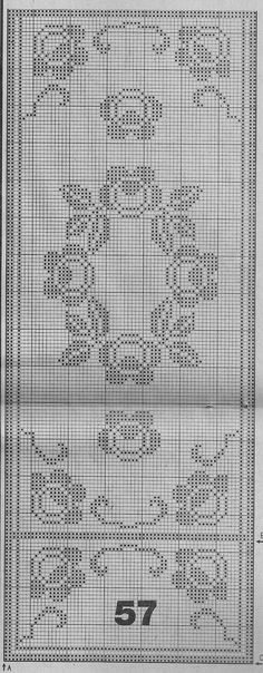 Crochet Lace Edging, Crochet Borders, Easy Crochet Patterns, Crochet Doilies, Crochet Bedspread, Crochet Curtains, Tapestry Crochet, Filet Crochet Charts, Crochet Diagram