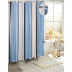 Carnation Home Fashions Ez On Grommet Style Stripe Eva Shower Curtain    Walmart.com