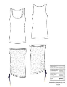 illustrator fashion templates free_sleeveless