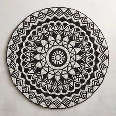 Black Ivory Medallion Beaded Placemat