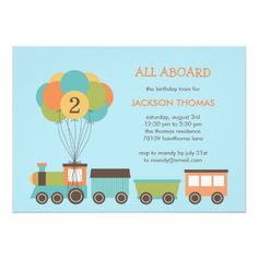 Train Birthday Party Invitations Birthday Train Birthday Party Invitation