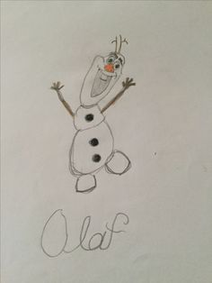 Olaf-Frozen Olaf Frozen, Amazing Art, Snoopy, Drawings, Fictional Characters, Olaf From Frozen, Sketch, Portrait, Drawing