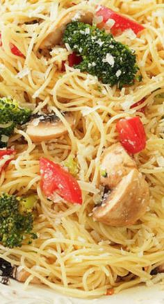 pasta with parmesan broccoli and mushrooms tomato spinach penne pasta ...