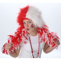 NC State Wolfpack Team Spirit Red/White Wig