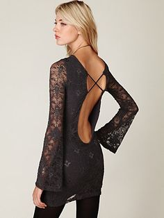 Nightcap Priscilla Open Back Lace Bodycon Dress at Free People Clothing Boutique - StyleSays