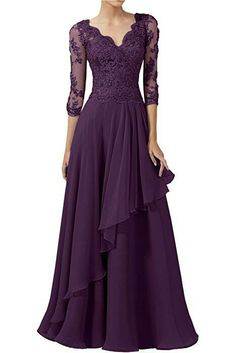 DINGZAN 2018 Wedding Guest Mother Of The Bride Dresses With Half Sleeves Long Prom Gowns 10 Wine -- Read more at the image link-affiliate link. Mob Dresses, Fashion Dresses, Formal Dresses, Bride Dresses, Lounge Dresses, Wedding Dresses, Mother Of Groom Dresses, Mothers Dresses, Long Prom Gowns