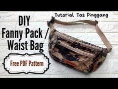 Sewing Hacks, Sewing Tutorials, Sewing Projects, Pouch Tutorial, Diy Tutorial, Diy Bags Purses, Fanny Pack, Tote Bag, Stitches