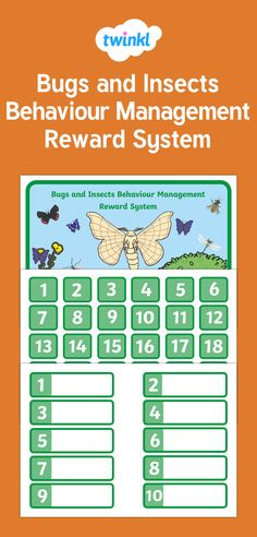 A beautifully designed Behaviour Management system Behavior Management System, Classroom Organisation, Reward System, Bugs And Insects