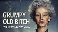 Grumpy old bitch ageing makeup tutorial