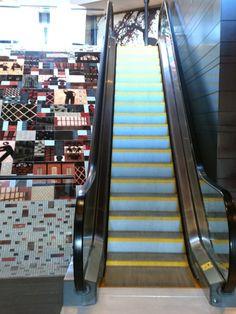Escalator at Liberty Hotel in Boston