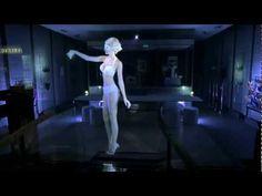 Hologramme Empreinte, l'Atelier lingerie -- Paris hologram in window of store