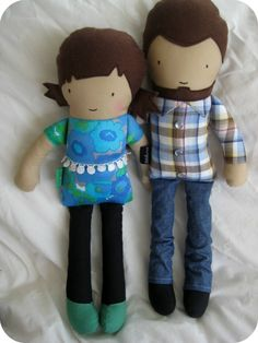 dee*construction: Make my Week #47 - the latest batch dolls for a wedding aniversary
