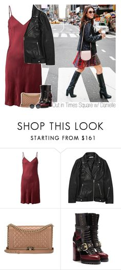 """Out in Times Square w/ Danielle"" by amberamelia-123 ❤ liked on Polyvore featuring Organic by John Patrick, T By Alexander Wang, Chanel, Burberry and Miu Miu"