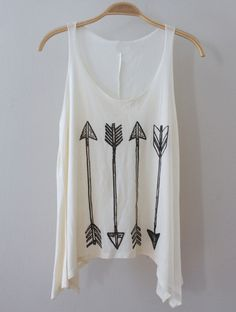Restocked July 26th  Soft creme colored muscle tank with graphic of 4 arrows in the front. Perfect with our SAGE shorts and SERENA bralette   Measurements taken from size small add 1/2 inch for next size up Length at longest point: 26 inches Length at shortest point: 23 inches Bust (left ...