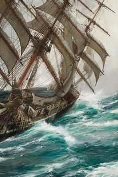 A PAINTING!!  Incredible. The ocean is awesome                      Beard, Briar & Rose