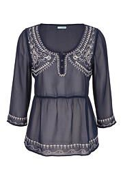 embroidered chiffon peasant top - maurices.com