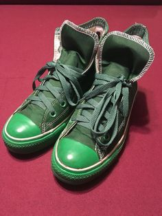 d9118ea81d47 Converse Chuck Taylor All Star Green Textile Hi Tops Mens 6 Womens 8 Shoes  1K690