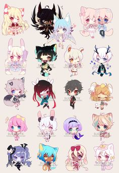 CC CHIBBIES BATCH 3 by Sueweetie.deviantart.com on @DeviantArt
