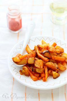 Pommes de terre et carottes rôties au tandoori-- Miam!  à servir impérativement avec une salade verte