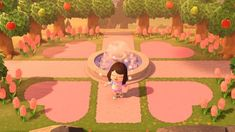 Greeted with love when you enter my town! Loving these custom paths - ac_newhorizons Greeted with love when you enter my town! Loving these custom paths - ac_newhorizons Animal Crossing Guide, Animal Crossing Qr Codes Clothes, Vintage Farmhouse, Iphone Cover, Motif Acnl, Ac New Leaf, Motifs Animal, Entrance Design, Entrance Ideas