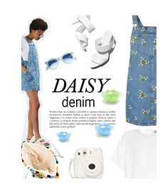 """Daisy Denim"" by tracey-mason ❤ liked on Polyvore featuring Sportmax, Topshop, Figue, Alexander Wang and J.Crew"