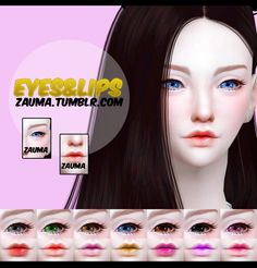 Eyes and lips at Zauma • Sims 4 Updates