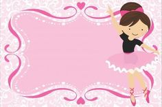 Convite de Chá de Bebê Bailarina: 18 modelos! continue vendo...