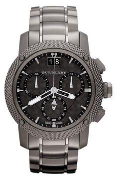 Burberry chronograph bracelet watch.