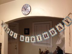 I just finished making this Happy Birthday banner for my boyfriend's birthday! I had them laminated so that we can reuse them for a few years! <3   Get the free printable alphabet here: http://www.diyswank.com/free-printable-letters-entire-alphabet/#comment-142