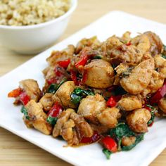 Thai Basil Chicken. Do takeout at home in less than 10 minutes. It's full of flavor, healthier, and tastier than the takeout version!
