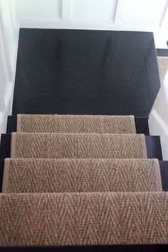 no runner on the landing, wainscoting
