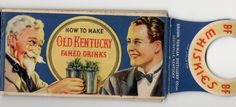 Vintage bourbon cocktails | 'How To Make Old Kentucky Famed Drinks' | Kentucky for Kentucky