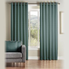 Sophitcated plain weaved polyester curtains adding elegance and charm to your rooms Teal Curtains, Curtains With Blinds, Pencil Pleat, Soft Furnishings, Home Accessories, Debenhams, Living Room, Elegant, House