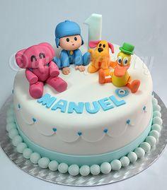 Pocoyo birthday cake! Adorable!