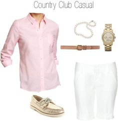 For work in the summer country club casual Country Club Attire, Country Club Casual, Womens Fashion Casual Summer, Womens Fashion For Work, Preppy Style, My Style, Casual Outfits, Club Outfits, Fashion Over 40