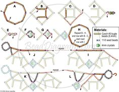 FREE Pattern for Necklace BUGLE DIAMONDS from BeadDiagrams. Page 2 of 2