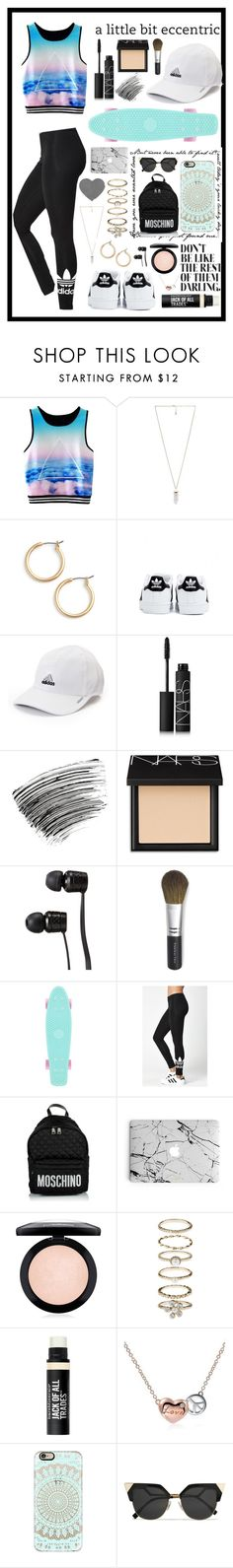 """""""A little bit eccentric"""" by rhiannonpsayer on Polyvore featuring Amber Sceats, Nordstrom, adidas, NARS Cosmetics, Bobbi Brown Cosmetics, Vans, Bare Escentuals, Moschino, MAC Cosmetics and Accessorize"""