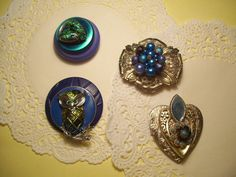 Love these! Great gift! Unique Vintage Jeweled Refrigerator Magnets. $20.00, via Etsy.