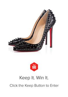 I discovered this Christian Louboutin Pigalle Spikes on Keep. View it now.