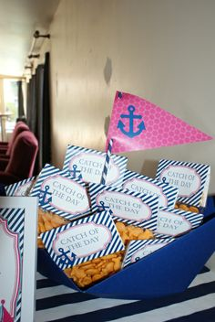 Preppy Nautical Birthday Party Birthday Party Ideas | Photo 2 of 18 | Catch My Party