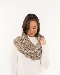 Beige Light Lacy Crochet Cowl Handmade by BrennaAnnHandmade