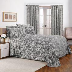 Belle Maison Bryce Chenille Bedspread  , the SEA Breeze color