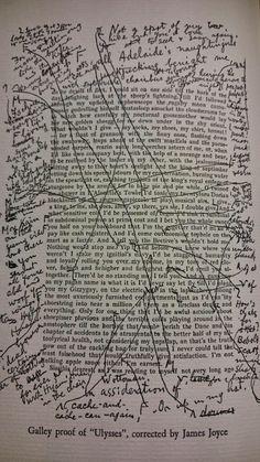 Revisões nos originais de Ulisses (1922), de James Joyce