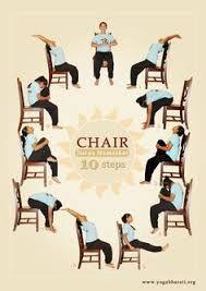 printable chair yoga routines  chair yoga for seniors at