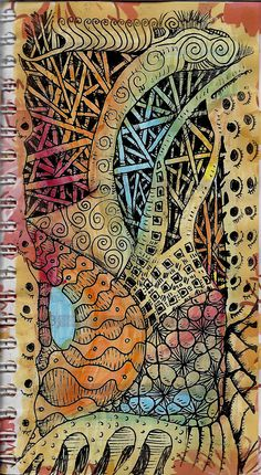 zentangle painting - Google Search