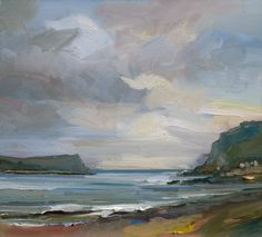 David Atkins . As Evening Approaches, Lulworth Cove . oil on panel, 56x61 cm