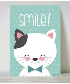 Lámina Smile Diy Canvas, Canvas Wall Art, Canvas Prints, Kids Room Art, Art For Kids, Deco Kids, Baby Posters, Cute Notebooks, Personalised Canvas
